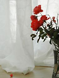 Недорогие -Нанизать стержень занавески Люверс занавески Вешалка занавески Морщиться 2 шторы Окно Лечение Modern , Жаккардовое переплетение Однотонный