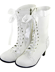cheap -Lolita Shoes Sweet Lolita Handmade High Heel Shoes Solid 6 CM White For Women PU Leather/Polyurethane Leather