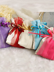 cheap -Creative Satin Favor Holder with Ribbons Pattern Favor Bags - 12