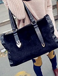 Women Bags All Seasons PU Tote for Casual Black Khaki