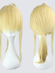 economico -Parrucche Cosplay Fate/zero Saber Oro Medio Anime Parrucche Cosplay 45 CM Tessuno resistente a calore Donna