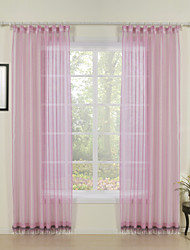 cheap -Rod Pocket Grommet Top Tab Top Double Pleat Curtain Print Solid 100% Polyester Polyester Material Home Decoration