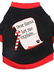 baratos -Cachorro Camiseta Roupas para Cães Respirável Carta e Número Preto Ocasiões Especiais Para animais de estimação