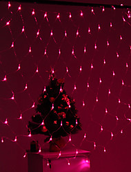 Festival Decoration 120-LED 8-Mode Pink Light Net Lamps for Party Garden Fence (220V)