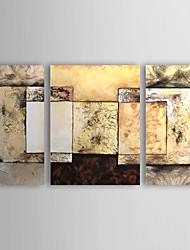 billige -hånd-malet abstrakt oliemaleri med strakte ramme - sæt af 3