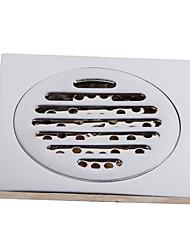 رخيصةأون -حمام ملحق المعاصرة لمسات من الكروم النحاس الصلب الطابق استنزاف LK-1050