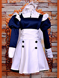 cheap -Inspired by Black Butler Mey-Rin Anime Cosplay Costumes Cosplay Suits Dresses Patchwork Long Sleeves Dress Headband For Women's
