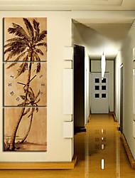 moderne stil naturskønne vægur i canvas 3stk k0149