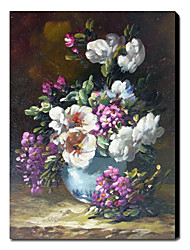 Hand-Painted Still Life Vertical One Panel Canvas Oil Painting For Home Decoration