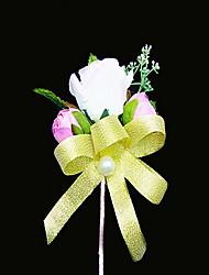 Hochzeitsblumen Freigeformt Pfingstrosen Knopflochblumen Hochzeit Partei / Abend Satin Baumwolle Rosa