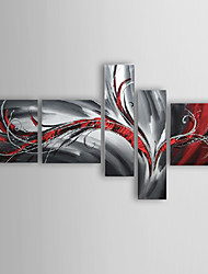 Dipinta a mano Astratto Cinque Pannelli Tela Hang-Dipinto ad olio For Decorazioni per la casa