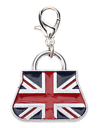 Dog tags England Flag Pattern Handbag Style Collar Charm for Dogs Cats