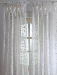 cheap -Two Panels Curtain Neoclassical Living Room Polyester Material Sheer Curtains Shades Home Decoration For Window