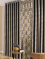 cheap -Two Panels Curtain Modern Bedroom Polyester Material Blackout Curtains Drapes Home Decoration