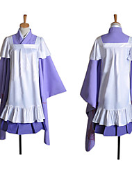 Ispirato da Vocaloid Megurine Luka Video gioco Costumi Cosplay Abiti Cosplay Collage Viola Maniche lungheKimono / Gonna / Abito /