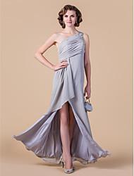 guaina / colonna una madre chiffona di lunghezza del pavimento della spalla del vestito dalla sposa con il cristallo di lan ting bride®