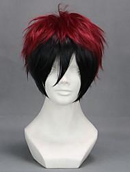 Parrucche Cosplay Cosplay Kagami Taiga Nero / Rosso Corto Anime Parrucche Cosplay 32 CM Tessuno resistente a calore Uomo