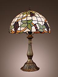 levne -tiffany-style hroznový bronz povrch stolní lampa (0923-tf11)