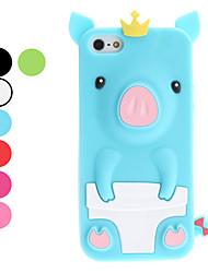 billige -3d-design søde gris mønster soft cover til iPhone 5/5s (assorterede farver)
