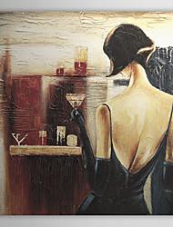 Handgemalte Menschen Ein Panel Leinwand Hang-Ölgemälde For Haus Dekoration