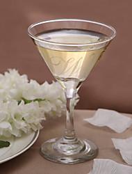economico -Personalizzata Martini Glass iniziale