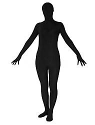 billige -Zentai Drakter Ninja Cosplay-kostymer Ensfarget Spandex Lykra Herre Dame Jul Halloween / Høy Elastisitet