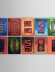 cheap -Hand-Painted Abstract Canvas Oil Painting Home Decoration More than Five Panels