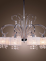 cheap -Chandelier ,  Modern/Contemporary Chrome Feature for Crystal Metal Living Room Bedroom