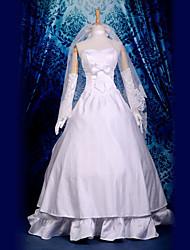 Недорогие -Вдохновлен Fate / stay night Saber видео Игра Косплэй костюмы Косплей Костюмы Пэчворк Кофты костюмы