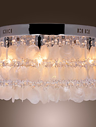 cheap -Flush Mount Ambient Light - Crystal Mini Style, Modern / Contemporary, 110-120V 220-240V Bulb Not Included