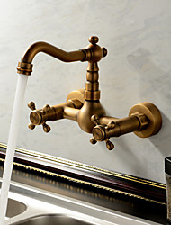 abordables -Robinets pour Evier Sprinkle® - Antique Traditionnel Laiton Antique Jet pluie 2 trous
