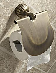 Porte Papier Toilette / Laiton Antique Antique