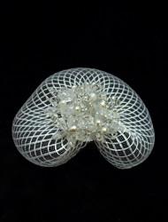 Tulle Crystal fascinators birdcage velils headpiece Estilo elegante