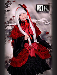 cheap -Inspired by K Anna Kushina Anime Cosplay Costumes Cosplay Suits / Dresses Patchwork Long Sleeve Dress / Shawl / Hat For Women's Halloween Costumes / Satin