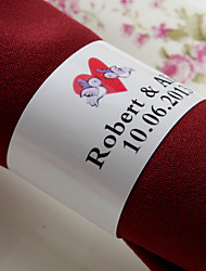 Personalized Paper Napkin Ring - Love Birds (Set of 50) Wedding Reception