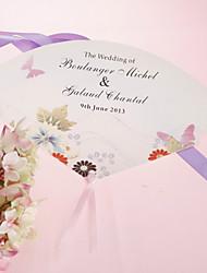 personalizirane biser papir rukom fan - proljetni cvijet (set od 12)