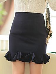 povoljno -Žene Olovka Suknje - Jednobojni, Ukriženo