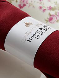 anneau de serviette en papier personnalisé - couronne (lot de 50) réception de mariage