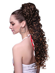 cheap -High Quality Synthetic Wavy Brown Moderm Ponytail