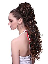 Недорогие -Конские хвостики Волнистый Искусственные волосы 100% волосы канекалона 20 дюймы Наращивание волос Клип во / на