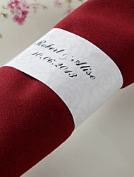 cheap -Personalized Paper Napkin Ring - Rose Design (Set of 50) Wedding Reception