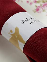 anneau de serviette en papier personnalisé - sakura (lot de 50) réception de mariage