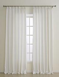 billige -to paneler europæiske kontraheret mode off-white faststof polyester panel gardiner forhæng