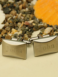 Gift Groomsman Personalized Slender Cufflinks With Gift Box