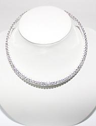 Недорогие -Двухрядные ожерелье высокого класса Кристалл