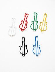 Gitarre Muster Plastik verpackt Büroklammern (10pcs zufällige Farben)
