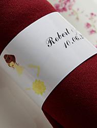 personalizirani papirnasti salon - nevjesta (skup od 50) vjenčani prijem