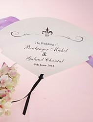 personalizirane biser papir rukom fan - crne tinte (set od 12)