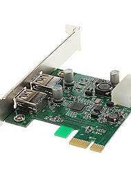 cheap -High Speed USB 3.0 2 ports PCI-E Card