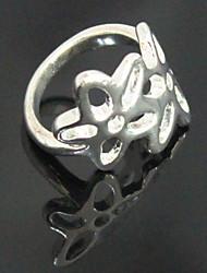 Недорогие -Посеребренная полым из пяти лепестков цветок кольцо